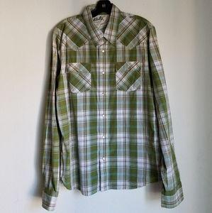 Vintage Hollister Plaid button down shirt
